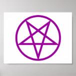 Impresión púrpura invertida del Pentagram Poster
