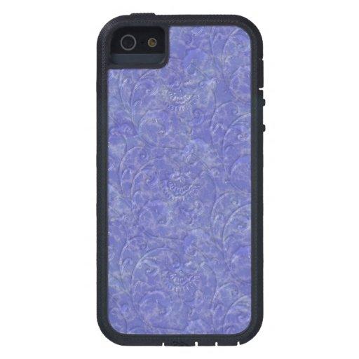 "Impresión púrpura iPhone ""de mármol"" líquido iPhone 5 Case-Mate Cárcasa"