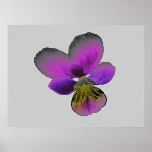 Impresión púrpura oscura salvaje del pensamiento póster