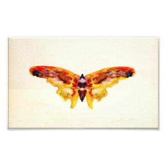 Impresión púrpura y amarilla del vintage de la mar impresiones fotográficas