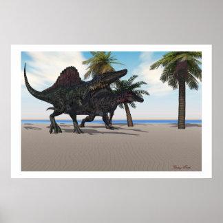 Impresión que camina de Spinosaurus Poster