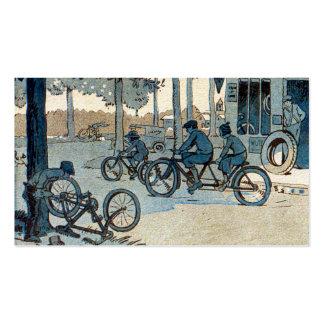 Impresión que monta en bicicleta del vintage plantilla de tarjeta de negocio