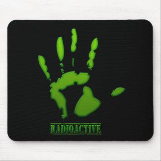 Impresión radiactiva de la mano alfombrillas de raton