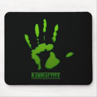 Impresión radiactiva de la mano tapetes de ratones