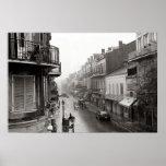 Impresión real del arte de New Orleans de la calle Poster