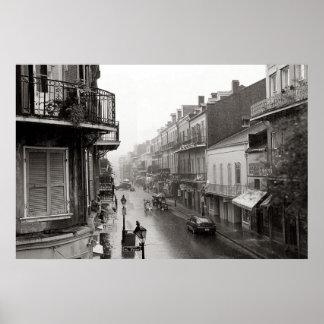 Impresión real del arte de New Orleans de la calle Póster