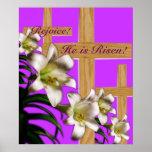 ¡Impresión religiosa del poster de Pascua - lo sub