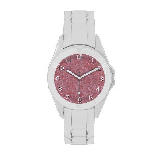 """Impresión reloj """"de mármol"""" líquido del rosa"""