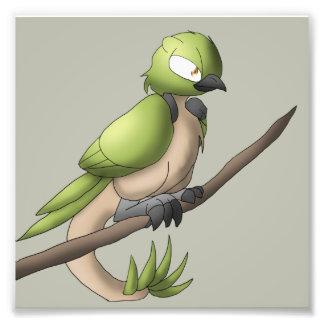 Impresión reptil de la foto del pájaro