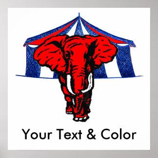 Impresión republicana del POSTER del elefante del