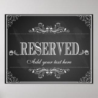 Impresión reservada personalizada pizarra de la póster