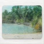 Impresión retra de la playa tapetes de raton