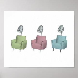 Impresión retra de la silla 8x10 del secador del s