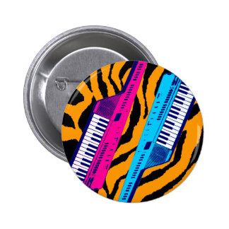 Impresión retra del tigre de Keytar de los años 80 Pin