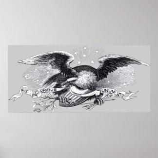 Impresión revolucionaria de Eagle de la guerra Poster