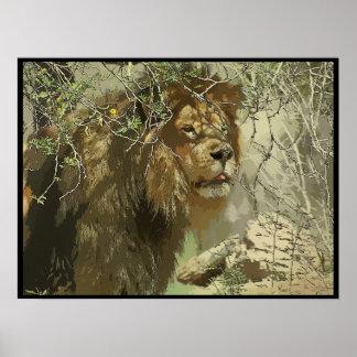 Impresión - rey de la selva póster