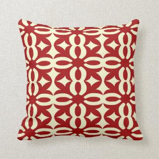 Impresión roja de encaje del Victorian Cojín Decorativo