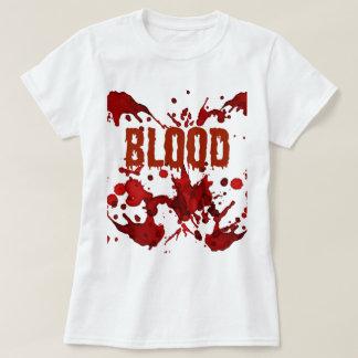 Impresión ROJA de Halloween de la sangre Camisas