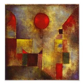 Impresión roja de la foto del globo de Paul Klee