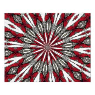 Impresión roja de la foto del medallón de la flech