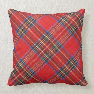 Impresión roja de la franela de la tela escocesa almohadas