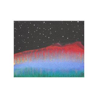 Impresión roja de la lona de la montaña impresiones en lona