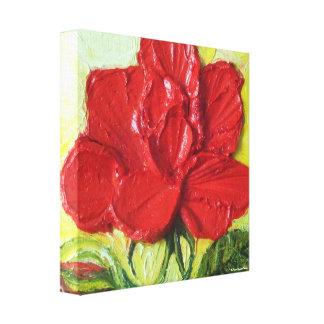 Impresión roja de la lona del abrigo de Rose Galle Impresiones En Lona Estiradas