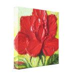 Impresión roja de la lona del abrigo de Rose Galle Lona Envuelta Para Galerias