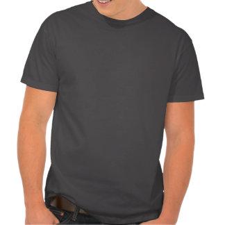 Impresión roja de la pata de la tela escocesa camisetas
