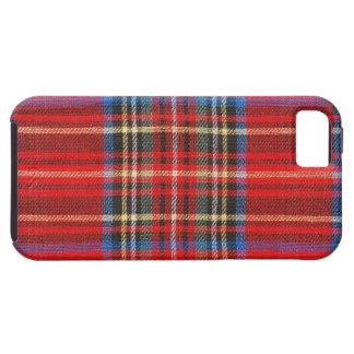 Impresión roja de la tela escocesa iPhone 5 carcasa