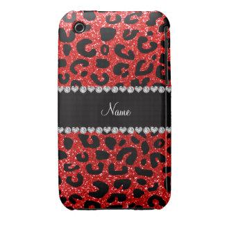 Impresión roja de neón conocida de encargo del gue iPhone 3 Case-Mate carcasa