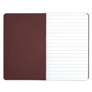 Impresión roja de rubíes de la fibra de carbono cuadernos grapados