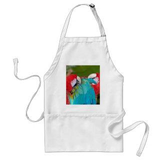 Impresión roja y azul del loro del macaw delantal
