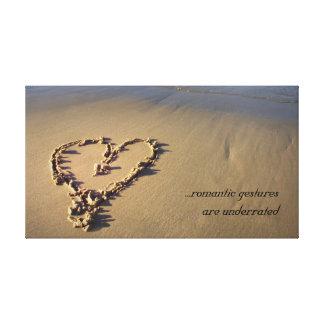 Impresión romántica de la lona del corazón de la a impresiones en lienzo estiradas