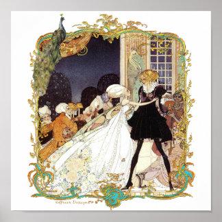 Impresión romántica del baile de disfraces del pav impresiones