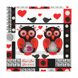 Impresión romántica del boda o de la tarjeta del d impresion de lienzo