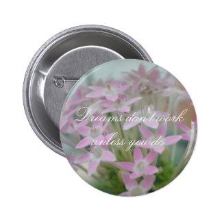 Impresión rosada adaptable de la foto del racimo pin redondo 5 cm