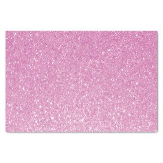 Impresión rosada bonita del brillo papel de seda pequeño