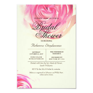 """Impresión rosada bonita elegante del rosa invitación 3.5"""" x 5"""""""