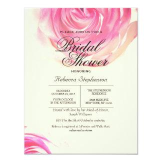 """Impresión rosada bonita elegante del rosa invitación 4.25"""" x 5.5"""""""