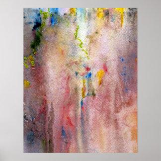 Impresión rosada de la bella arte de la niebla posters