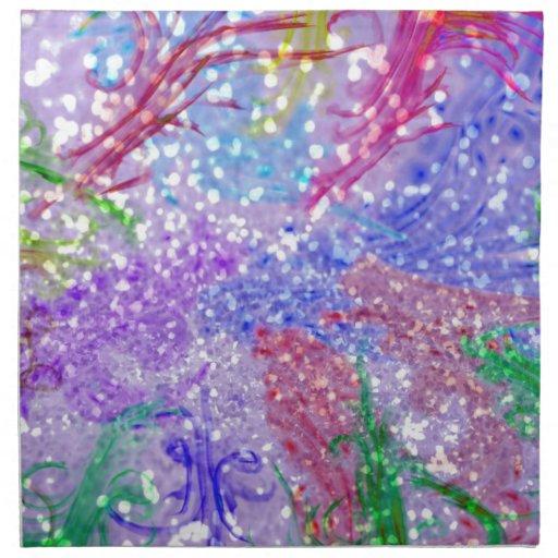 Impresión rosada de la foto del brillo del extract servilleta