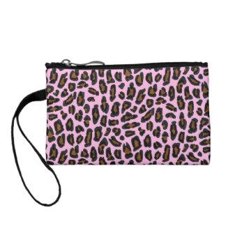 Impresión rosada de la piel del leopardo