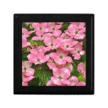 Impresión rosada de las flores del dogwood del kou cajas de regalo