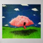 Impresión rosada de las nubes de BargasArtworks Posters