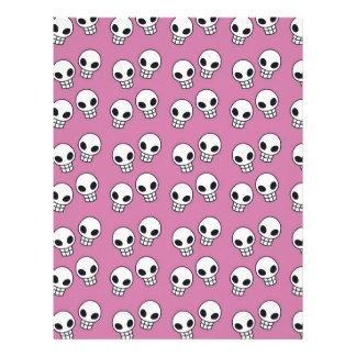 Impresión rosada del cráneo plantilla de membrete