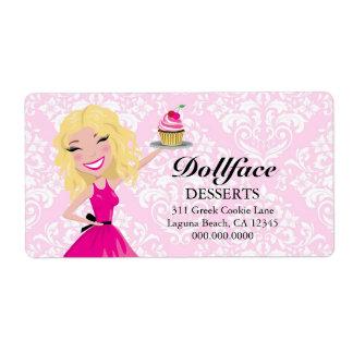 Impresión rosada del damasco de Blondie de 311 pos Etiquetas De Envío