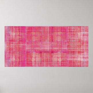Impresión rosada del poster de la pintura del arte