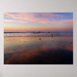 Impresión rosada del poster de la salida del sol d