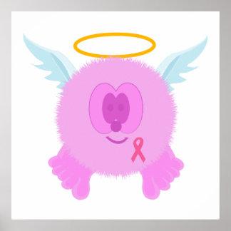 Impresión rosada del poster del ángel de la cinta